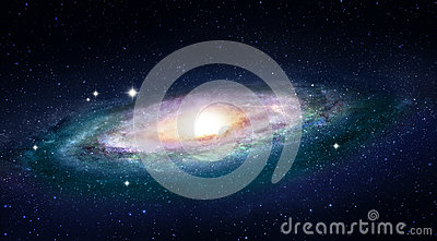 Colorful Galaxy with a bright galactic core