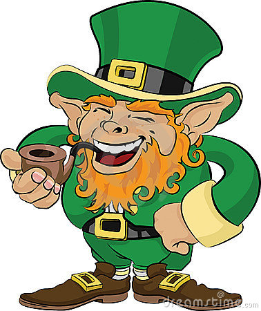 Illustration of St. Patrick s Day leprechaun