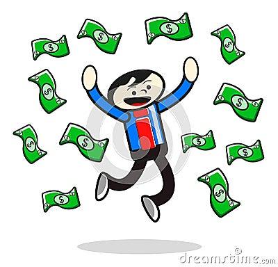 Illustration of success businessman