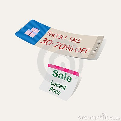 Tag Sale low price promotion for supermarket vector Vector Illustration