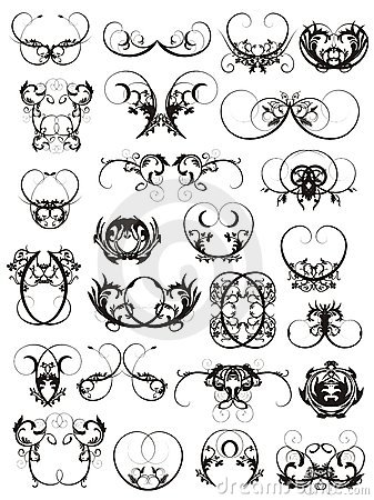 ILLUSTRATION OF TATTOO DESIGN ELEMENTS (click image to zoom)