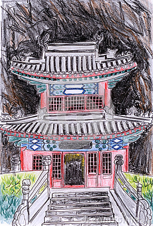 Illustration temple