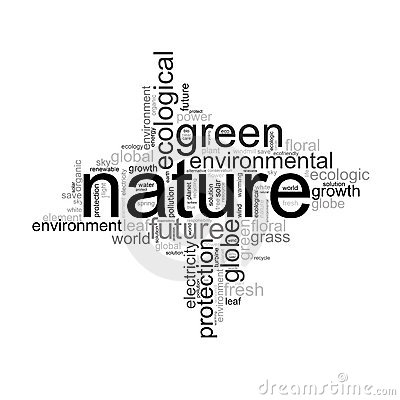 Illustration with terms like natur or environment