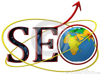 Illustration of text SEO