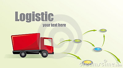 Illustration with a truck.