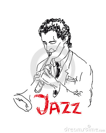 Illustration of a trumpeter
