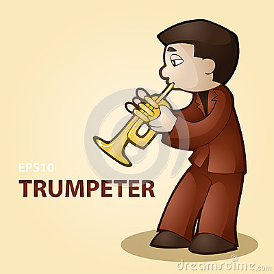 Illustration of a trumpeter.