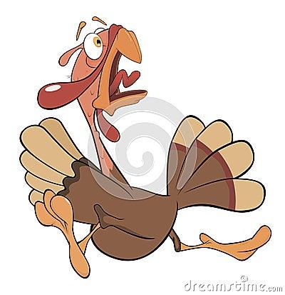 Illustration of turkey cartoon Vector Illustration