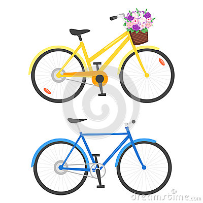 Illustration of two bicycles Vector Illustration