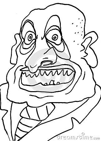 Illustration of ugly businessman