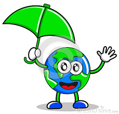 Illustration of umbrella earth