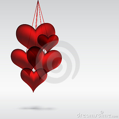 Illustration of valentine hearts