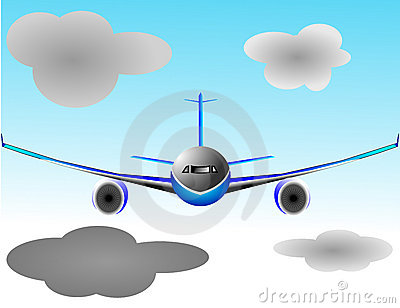 Illustration vector plane or airbus airplane