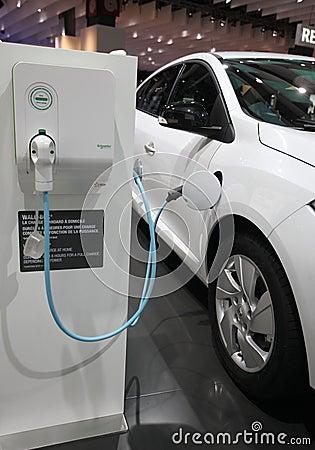 Illustration véhicule électrique Editorial Stock Image