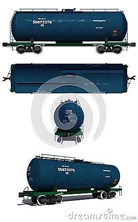 Free Illustration: Views Of Modern Blue Tank Waggon Royalty Free Stock Photos - 17974158