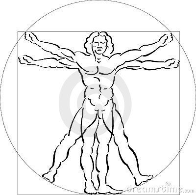 Illustration of Vitruvian Man Editorial Image