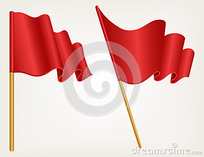 Illustration waving flag