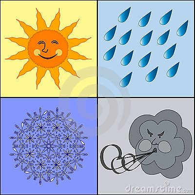 illustration of the weather icons.