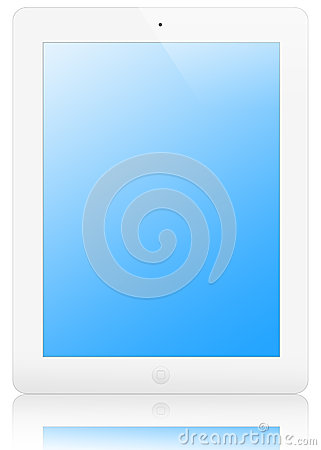 Illustration of white iPad 2, with clipping path Editorial Image
