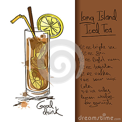 Free Illustration With Long Island Iced Tea Cocktail Stock Photography - 34386942
