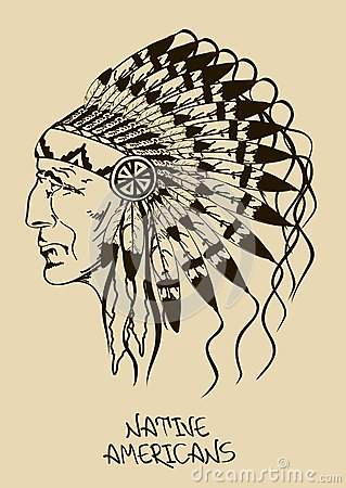 Free Illustration With Native American Indian Chief Royalty Free Stock Image - 34738956