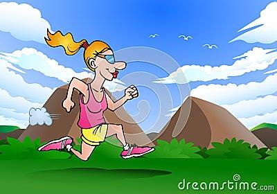 Female running athlete