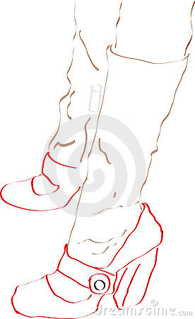 Illustration of women s feet