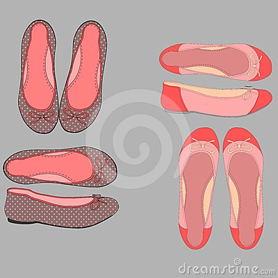 Illustration of women shoes