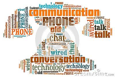 Illustration word of phone symbol