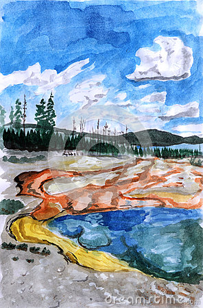 Illustration Yellowstone