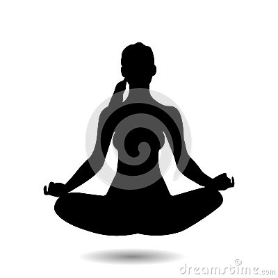 Illustration of yoga pose Vector Illustration