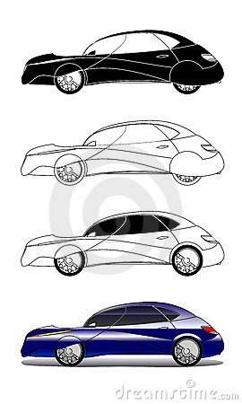 Illustrations concept car
