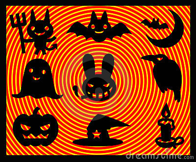Illustrations of helloween icons