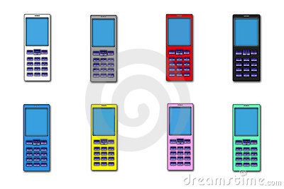 Illustrations, much telephone mobile colour