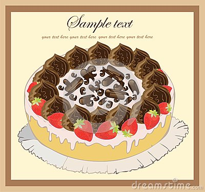 Illustrations of the pie. Beautiful batch. Beautif