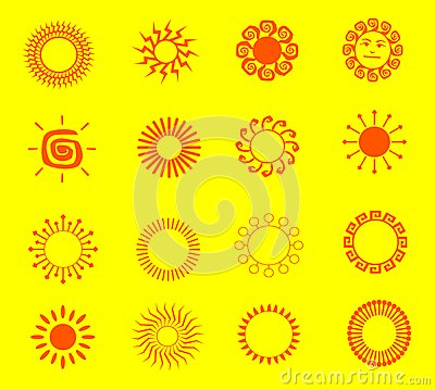 Illustrations of the sun
