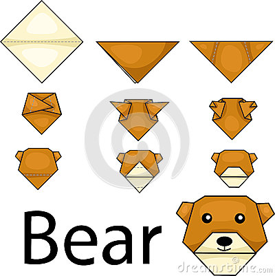 Illustrator Of Bear Origami Royalty Free Stock Images ... - photo#7