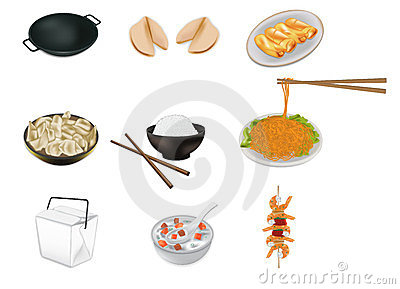 Illustrazione cinese di vettore dell alimento