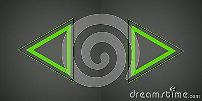 Illustrazione con il segno verde delle frecce
