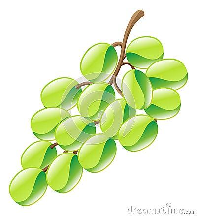 Illustrazione del clipart dell 39 icona della frutta dell 39 uva for Clipart frutta