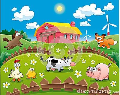 Illustrazione dell azienda agricola.