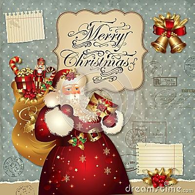 Illustrazione di natale con il Babbo Natale