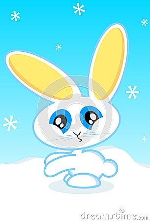 Illustrazione di vettore del coniglietto di festa