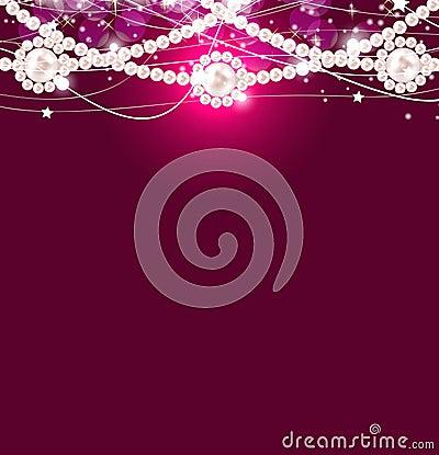Illustrazione di vettore del fondo della perla di bellezza