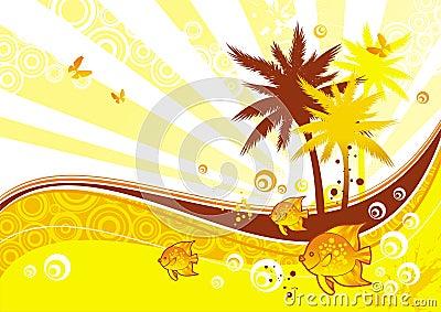 Illustrazione piena di sole