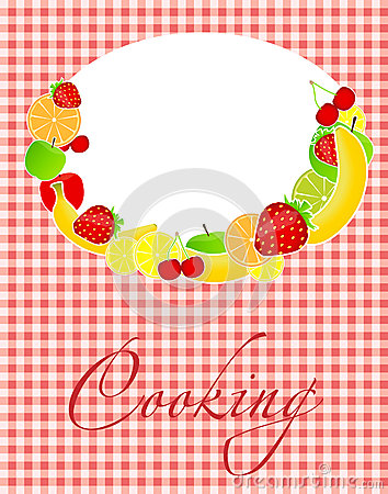 Illustrazione sana di vettore del modello del menu dell alimento