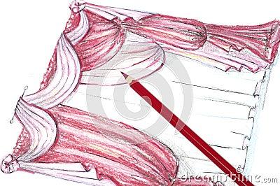 Illustrazioni del drapery
