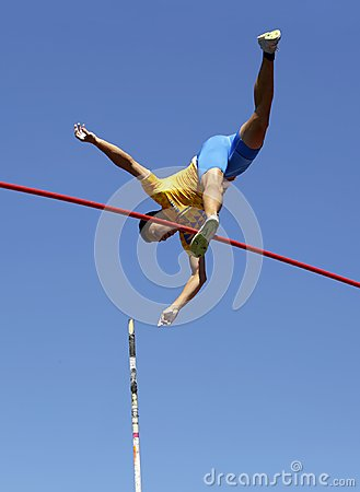 Free ILLYA KRAVCHENKO From Ukraine In The Final Of Pole Vault Event On The IAAF World U20 Championship Tampere, Finland Royalty Free Stock Photo - 122128515