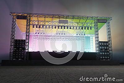 Iluminación de la etapa