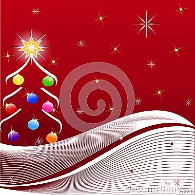 Ilustração da árvore de Natal